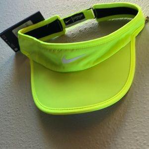 NWT Nike neon yellow visor.
